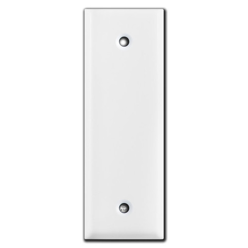 """1.5"""" Skinny Blank Outlet Cover Switch Plate - White"""