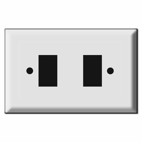 Oversized New Style 2 Switch GE Low Voltage Wallplates