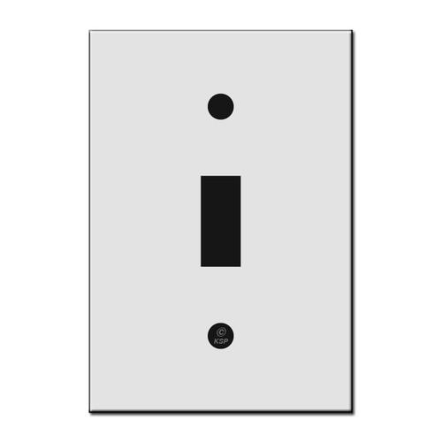 "Flat 4"" Short 1 Toggle Switch Plate"