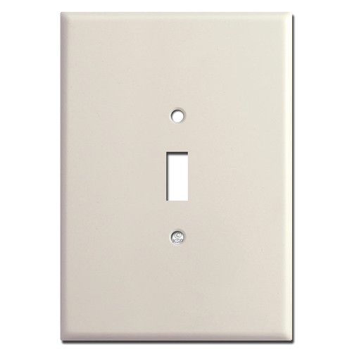 "Super Large 6.38"" Jumbo 1 Toggle Switchplate - Light Almond"