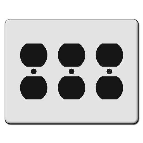 Tall 3 Duplex Outlet Switch Plate Covers