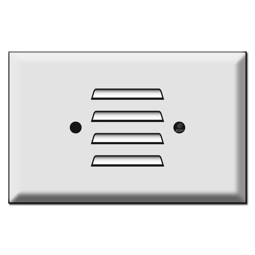 Oversized Horizontal Slot Louvered Wall Plate Cover