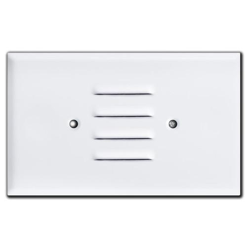 Jumbo Horizontal Louver Speaker or Light Cover Plate - White