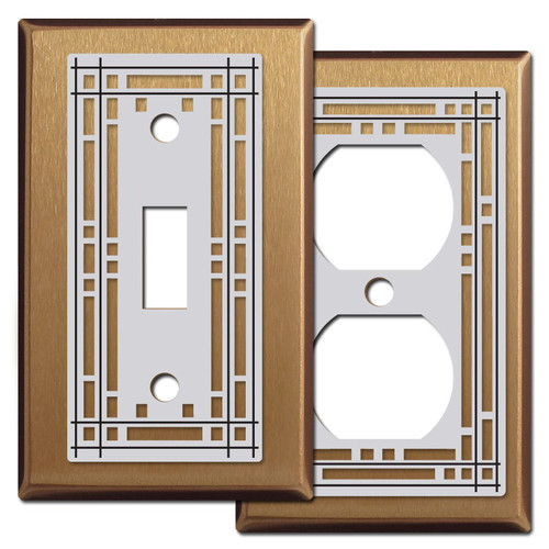 Mission Light Switch & Outlet Covers in Satin Bronze