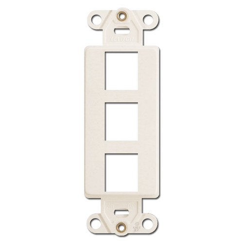 Leviton Light Almond 3 Jack Quick Port Decora Frames
