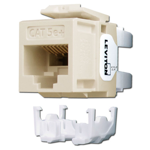 Leviton GigaMax 5e+ Ethernet Jack Insert - Light Almond