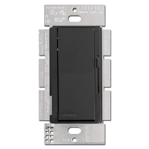 Magnetic Low Voltage Dimmer Switch Black Lutron 600VA