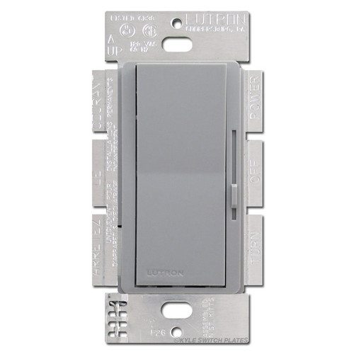 Magnetic Low Voltage Dimmer Switch 3 Way Gray Lutron 600VA