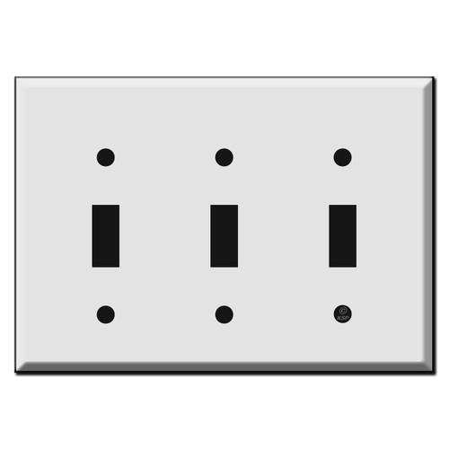Half Short 3 Toggle Light Switch Wall Plates