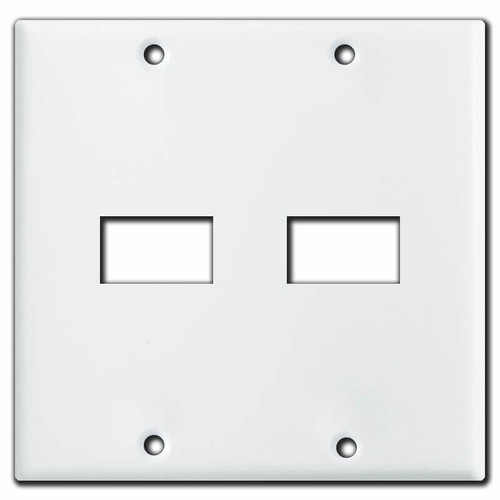GE Vintage Style Low Voltage 2 Gang 2 Switch Wall Plate - White