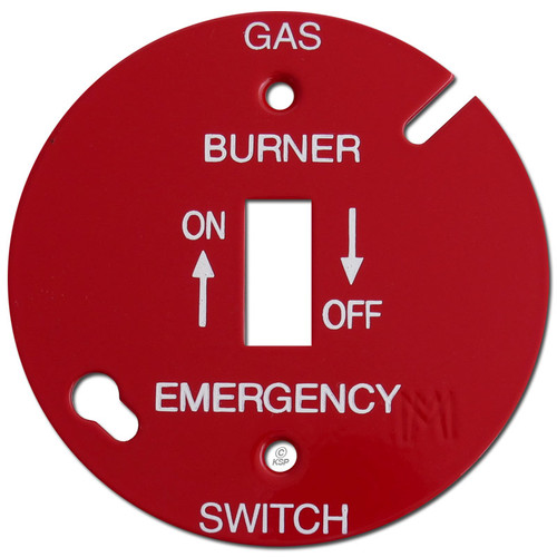 """Red 3.5"""" Round Toggle Gas Burner Control Switch Cover #027"""