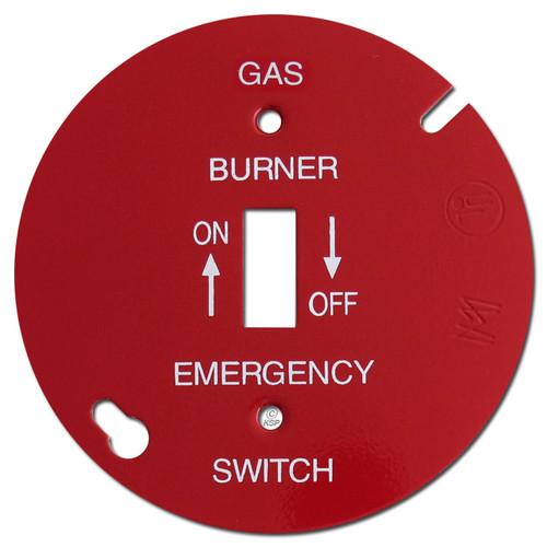 """Red 4"""" Round Toggle Gas Burner Control Switch Cover #028"""