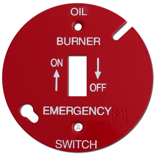 """Red 3.5"""" Round Toggle Oil Burner Control Switch Cover #011"""