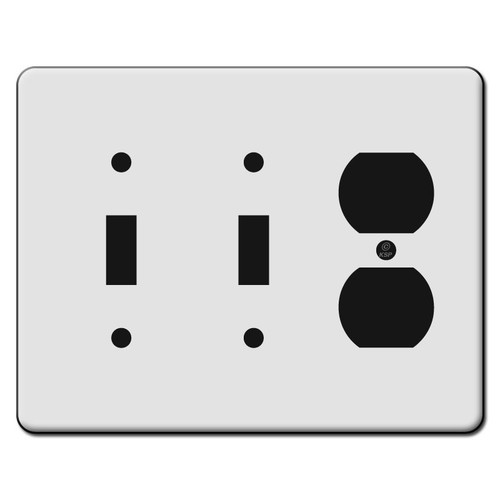 Tall 2 Toggle 1 Duplex Outlet Switch Plate Covers