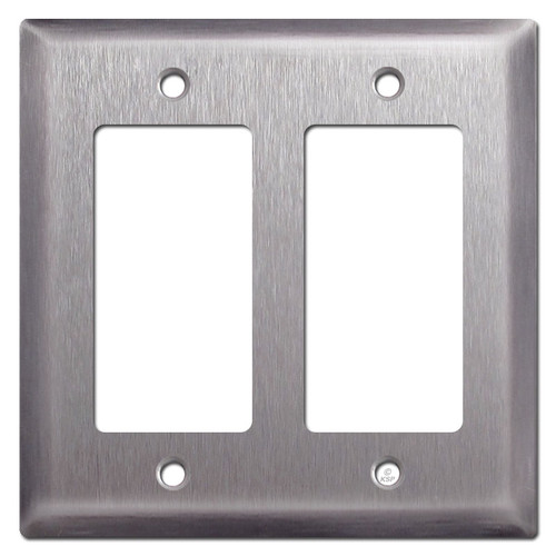 Deep 2 Decora Rocker Block Outlet Cover Plate - Stainless Steel