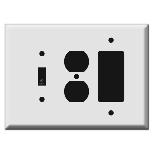 Oversized Toggle Outlet Decora Combo Light Switch Covers