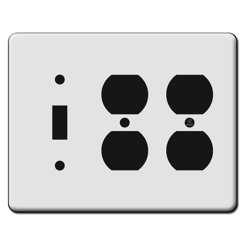Tall 1 Toggle 2 Duplex Outlet Switch Plate Covers