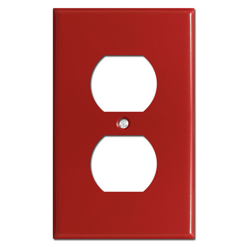 Duplex Outlet Cover Switch Plates - Red