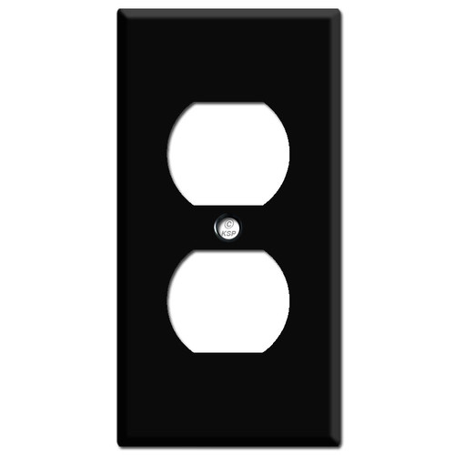 """2.25"""" Narrow Outlet Switch Cover - Black"""