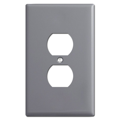 Oversized Outlet Plate Covers - Gray
