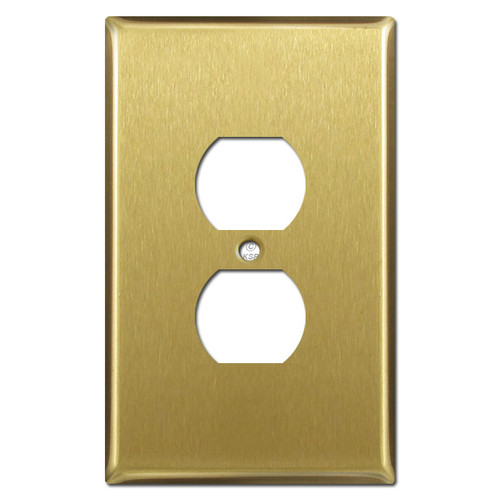 Jumbo Electrical Outlet Covers - Satin Brass