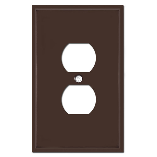 Oversized Duplex Outlet Plate - Brown