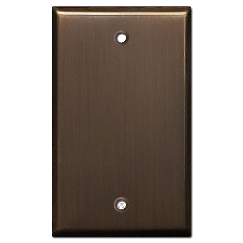 1 Blank Light Switchplate Cover - Venetian Bronze