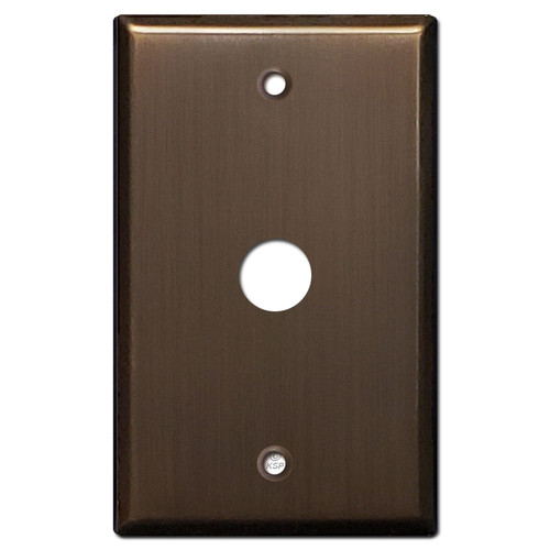 ".625"" Telephone Cable Cover Wall Plate - Venetian Bronze"
