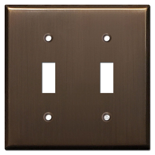 2 Toggle Switchplates - Venetian Bronze