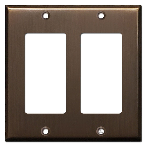 2 Rocker Switchplate Covers - Venetian Bronze
