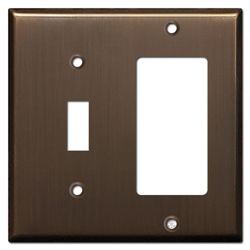 1 Toggle 1 Decora Cover Plate - Venetian Bronze