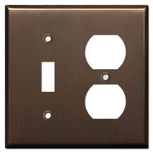 Receptacle Toggle Cover - Venetian Bronze