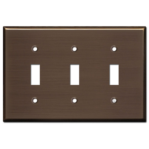 3 Toggle Light Plates - Venetian Bronze