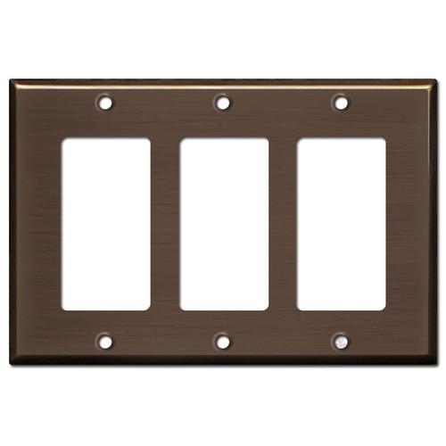 3 Decora Light Plate Covers - Venetian Bronze