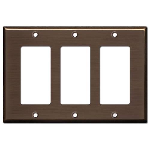 3 Decora Light Plate Covers - Venetian Bronze