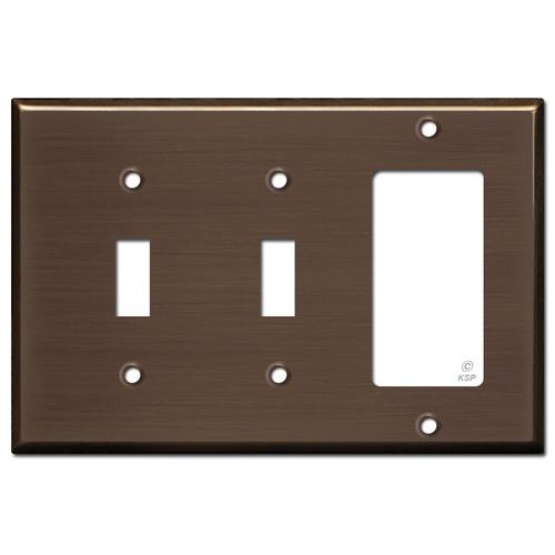 1 Decora 2 Toggle Light Switch Cover - Venetian Bronze