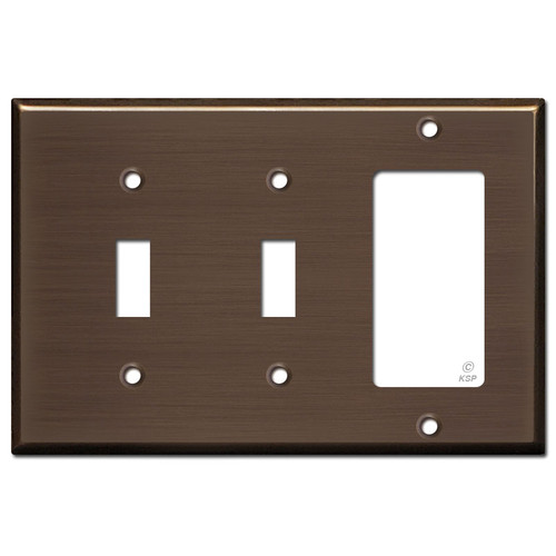 1 Decora 2 Toggle Light Switch Cover - Venetian Bronze
