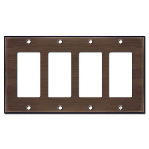 4 Decora Style Wall Plates - Venetian Bronze