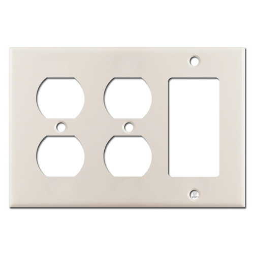 2 Outlet 1 Decora Switchplate - Light Almond