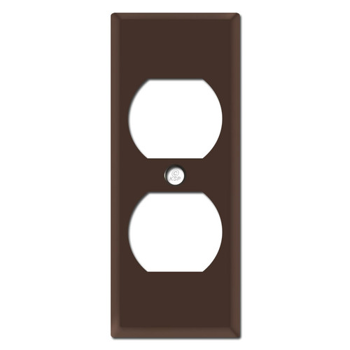 "Trimmed 1.75"" Duplex Outlet Covers - Brown"