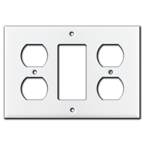 Outlet GFCI/Rocker Outlet Cover Plates - White