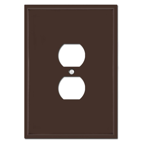 "Very Large 6.38"" Jumbo Duplex Outlet Cover - Brown"