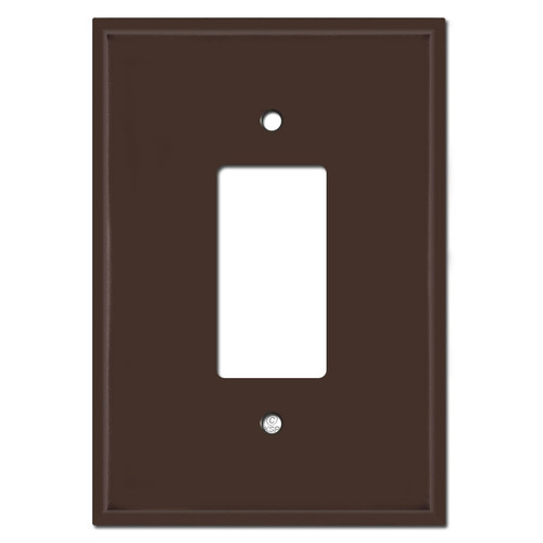 "Extra Large 6.38"" Oversized GFCI Rocker Light Switch Plate - Brown"