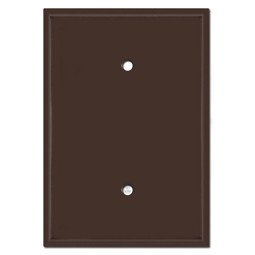 "Over 6"" Tall Jumbo Blank Electrical Switchplate - Brown"