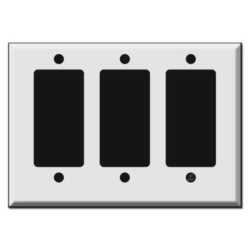 Half Short 3 Decora Rocker GFCI Outlet Plates