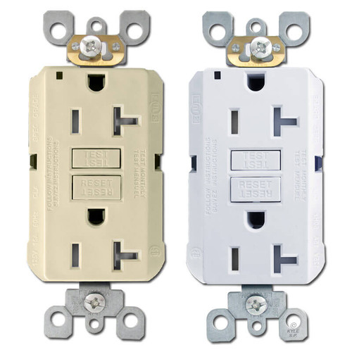 Ground Fault Decora Receptacles 20A Tamper Resistant Leviton