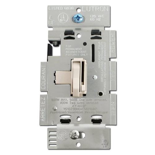 3-Way Light Almond Dimmer Toggle Switch 600 W