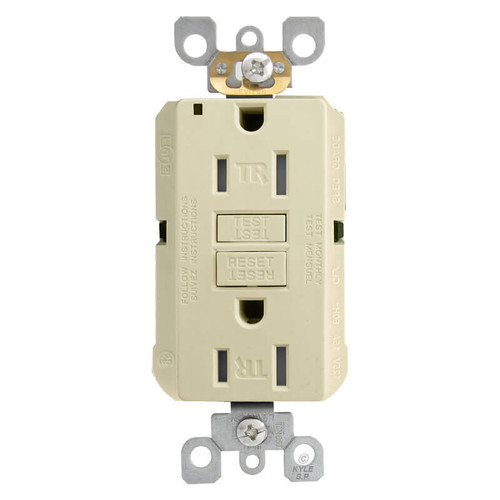Decora GFCI Electrical Outlet 15A Tamper Resistant - Ivory