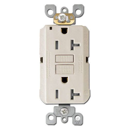 Decora GFCI Sockets 20A Tamper Resistant - Light Almond