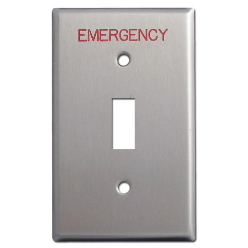 Emergency Toggle Switch Plates for Critical Locations